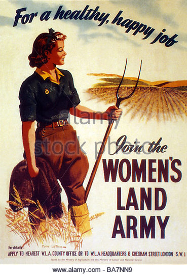 british-world-war-two-recruitment-poster-join-the-womans-land-army-ba7nn9